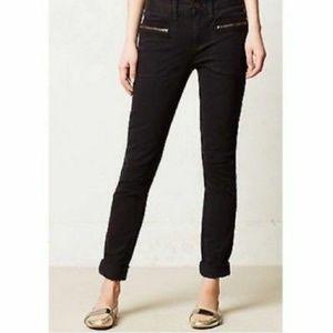 Pilcro & th Letterpress Black Zippered Skinny Pant